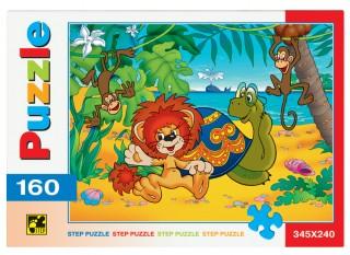 Пазл Львенок и черепаха 160 элементов Step Puzzle