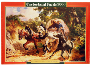 Пазл Крытый фургон на узкой тропе 3000 элементов Castorland
