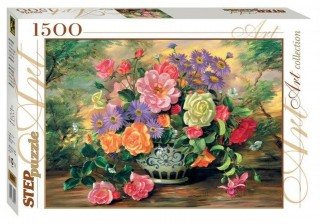 Пазл Цветы в вазе 1500 элементов Step Puzzle