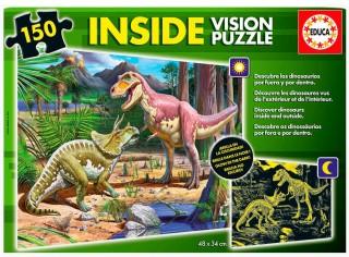 Пазл Динозавры с люминисцентным свечением в темноте