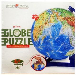 Глобус-пазл географическая карта мира