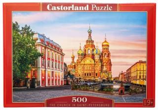 Пазл Храм в Санкт-Петербурге 500 элементов Castorland
