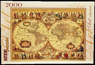 Пазл Историческая карта мира 2000 элементов Step Puzzle