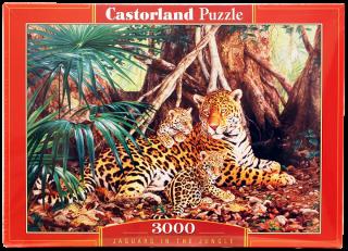 Пазл Ягуары в джунглях 3000 элементов Castorland