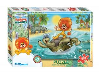 Пазл Львенок и черепаха 260 элементов Step Puzzle