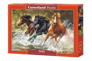 Пазл Лошади 500 элементов Castorland