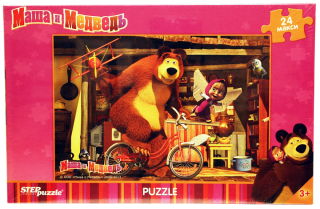 Пазл Маша и Медведь 24 элемента макси Step Puzzle
