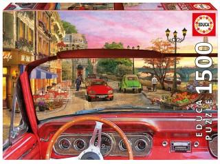 Пазл Париж в автомобиле Educa