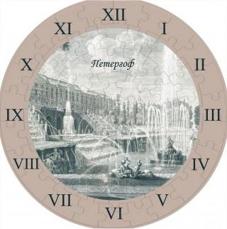Часы-пазл Петергоф Умная бумага