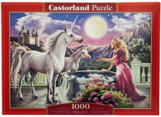 Пазл Принцесса и ее единорог 1000 элементов Castorland