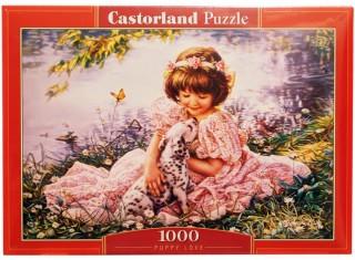 Пазл Девочка и щенок 1000 элементов Castorland