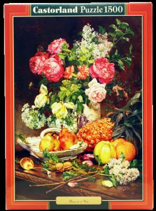 Пазл Розы в вазе Castorland