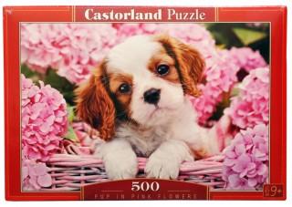 Пазл Щенок в цветах 500 элементов Castorland