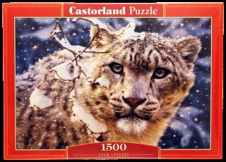 Пазл Снежный леопард 1500 элементов Castorland