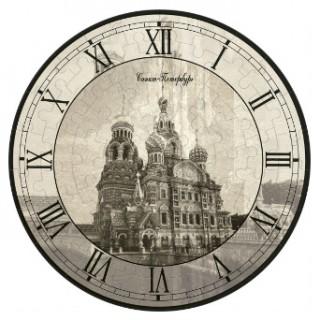 Часы-пазл Спас на Крови Умная бумага