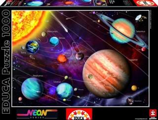 Пазл Солнечная система с неоновым свечением в темноте