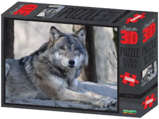 Пазл Super 3D Волк 500 деталей