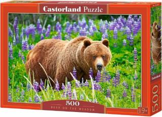 Медведь на лугу 500 элементов