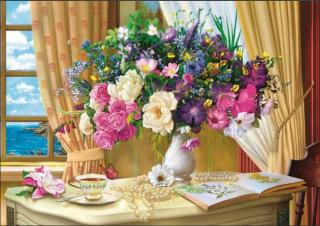 Пазл «Утренние цветы» 1000 элементов