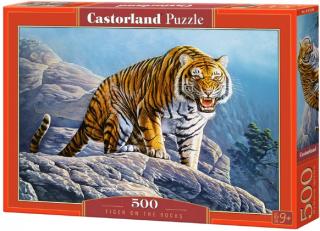 Пазл «Тигр на скале» 500 элементов