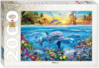 Пазл «Дельфины» 2000 элементов