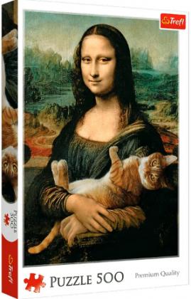 Пазл «Мона Лиза и котенок» 500 элементов