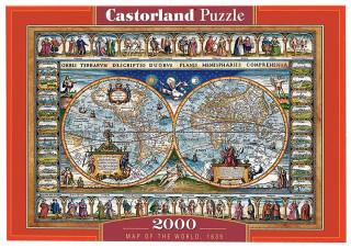 Пазл «Карта мира, 1639» 2000 элементов