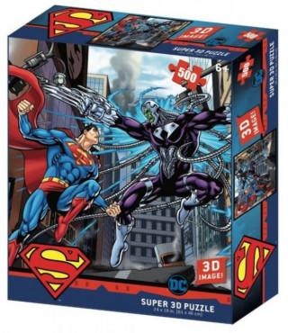 Пазл Super 3D Супермен против Брейниака 500 элементов