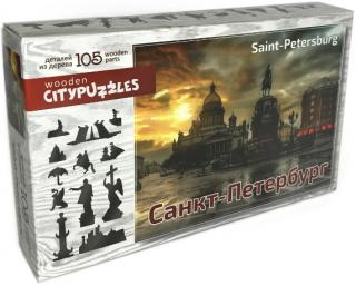 Деревянный фигурный пазл Санкт-Петербург Citypuzzles
