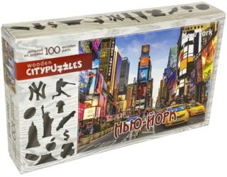 Деревянный фигурный пазл Нью-Йорк Citypuzzles