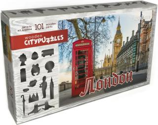 Деревянный фигурный пазл Лондон Citypuzzles