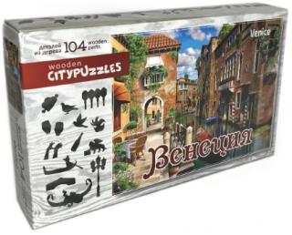 Деревянный фигурный пазл Венеция Citypuzzles
