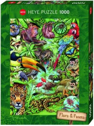 Пазл Обитатели тропического леса 1000 деталей