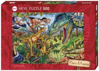 Пазл Динозавры-хищники 500 деталей