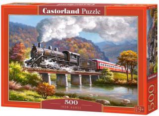 Пазл Паровоз в горах 500 элементов Castorland
