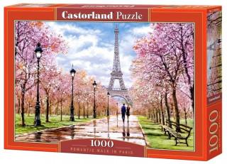 Пазл Романтическая прогулка в Париже 1000 элементов Castorland