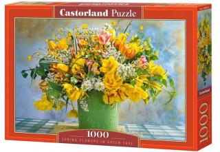 Пазл Весенние цветы в зеленой вазе 1000 элементов Castorland