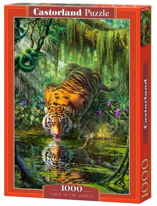 Пазл Тигр в джунглях 1000 элементов Castorland