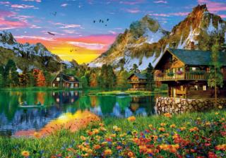 Пазл «Озеро в Альпах» 1500 элементов