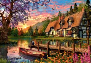 Пазл «Закат на озере в лесу» 4000 элементов