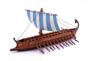 Модель Греческая бирема Умная бумага
