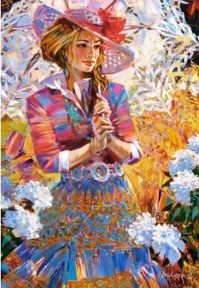Пазл Девушка с зонтом 1500 элементов Castorland
