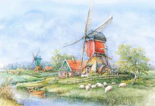 Пазл Деревня Голландия 1000 элементов Castorland