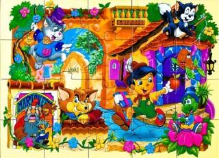 Деревянный пазл Пиноккио