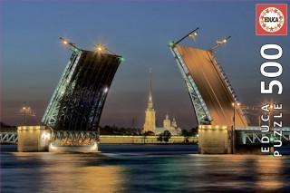 Пазл Развод Дворцового моста в Санкт-Петербурге 500 элементов Educa
