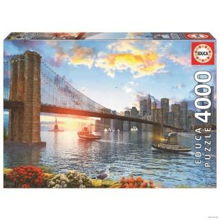 Пазл Бруклинский мост 4000 элементов Educa