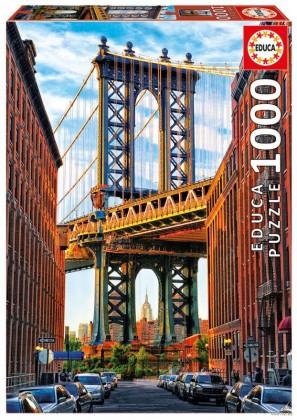 Пазл Манхэттенский мост, Нью-Йорк 1000 элементов Educa