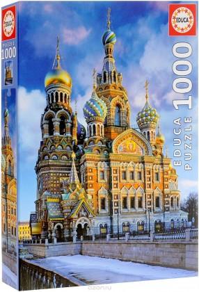 Пазл Храм Спас на Крови, Санкт-Петербург 1000 элементов Educa
