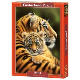 Пазл Тигры 500 элементов Castorland