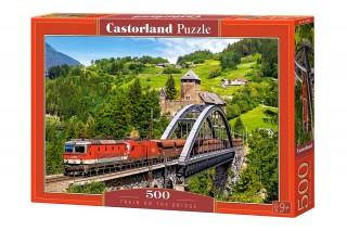 Пазл Поезд на мосту 500 элементов Castorland